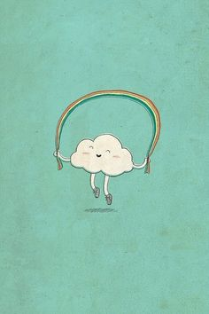 Happy Cloud jumping rope. Reminds me of my childhood!: