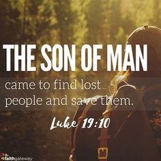 The Son of Man came to find lost people and save them. – Luke 19:10 Our God is the God who follows. Have you sensed Him following you? He is the one who came to seek and save the lost. Have you sensed Him seeking you? Have you felt His presence through the kindness of a stranger?