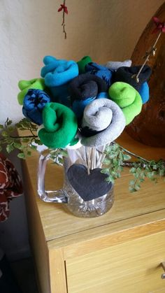 Sock bouquet for second anniversary!
