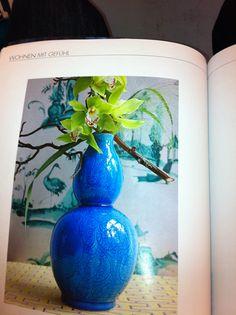 Blaue Vase Home Decor, Blue Vases, Decoration Home, Room Decor, Home Interior Design, Home Decoration, Interior Design