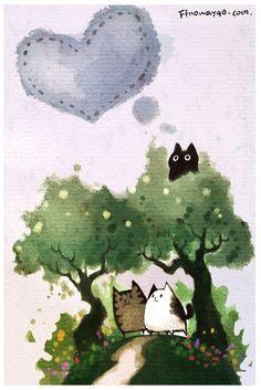 Black Cat Watercolor. #Cat #CatArt