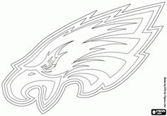 OUR eagle in a coloring page