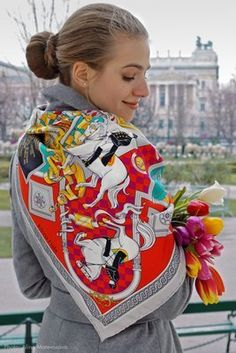 SEIDEN-SCHAL Blumenmuster SCARF SILK floral Design SEIDE Türkis