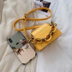 The Sylvia Mini Chain Tote Bag – Im So Official Mini Handbags, Leather Handbags, Mini Crossbody Bag, Tote Bag, Leather Material, Fashion Handbags, Mini Bag, Crocs, Shoulder Strap