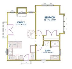 Tiny House Floor Plans | Small Cottage Design | Small Cottage House Plan with Loft