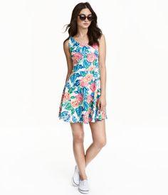 Mouwloze jurk   Roze/bloemen   Ladies   H&M NL