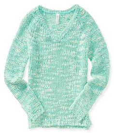 Neon V-Neck Sweater from Aeropostale
