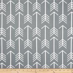 Premier Prints Arrow Cool Grey Home Decor Tribal Fabric, Gray Arrow Drapery Fabric - By the yard