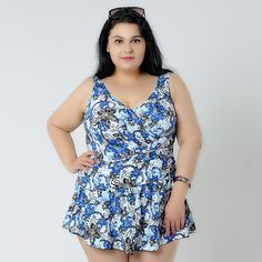 Swimming Sports & Entertainment Shop For Cheap Viniknika 2xl-6xl Big Size Padded Halter Printed Asymmetric Hem Set Plus Size Swimsuit Swimdress Vintage Retro Set Swimwear