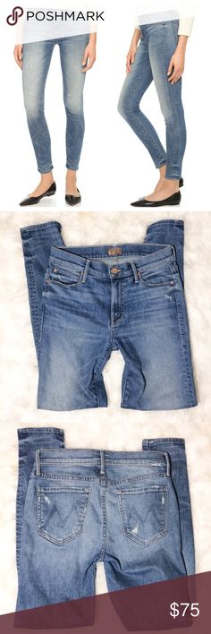 """MOTHER skinny jeans The Looker Lost and Found 27 Mother jeans from Anthropologie, The Looker in color Lost and Found. Great used condition, only worn a couple of times. Size 27, all measurements were taken laying flat. Waist- 14"""", inseam-27.5"""", rise-9 MOTHER Jeans Skinny"""
