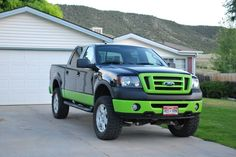 lifted flat green trucks | painted the truck lime green... i love it - Page 2 - Ford Truck ...