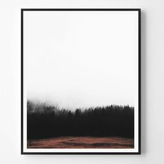 Forest print Landcape Print Photography by ScandiHomeDesign