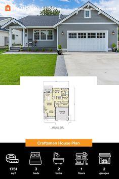 Craftsman Interior, Modern Craftsman, Craftsman Style House Plans, Modern Farmhouse Plans, Cottage House Plans, Modern House Plans, Cottage Homes, House Floor Plans, Cottage Design