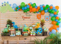Image may contain: 1 person Dinosaur First Birthday, Baby Boy Birthday, Dinosaur Party, Die Dinos Baby, Baby Dino, Birthday Party Decorations, 1st Birthday Parties, First Birthday Pictures, First Birthdays