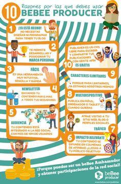 10 razones por las que debes usar beBee Producer #Infografía #beBee #Producer #SocialMedia #RedesSociales