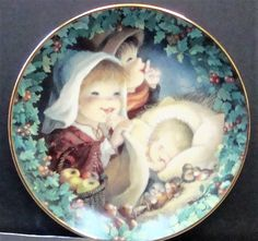 Hamilton Collection  Asleep in the Hay  collectible plate from  A Childu0027s Christmas  & Hamilton Collection Special Delivery Manu0027s Best Friend Collectible ...
