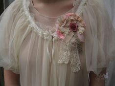 Pink Rose Cult party kei brooch from PonPon Kei