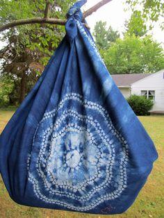 Shibori Furoshiki shoulder bag
