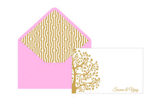 2 Wedding Stationery Note Cards Premium Styles Note cards Beautiful Invitations - By GLDS - New Delhi Wedding Stationery, Wedding Invitations, Table Cards, Thank You Notes, Wedding Programs, Save The Date Cards, Leaf Design, Gold Leaf, Note Cards