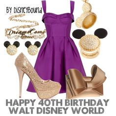 Disneybound, the dress reminds me of what vanessa hudgens wore in high school musical but in purple
