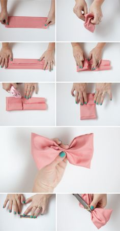 Flouncy No-Sew Fun Bun Bow Tutorial - The Alison Show