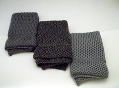 Dishcloths Knit in Cotton in EB Coal Marl Charcoal/Grey/Angel