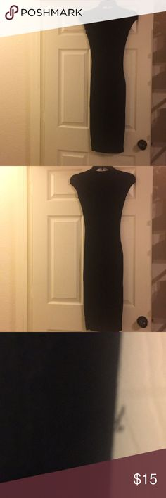 Black fitted Dress Black Fitted ankle length dress Looks nice on Wet Seal Dresses Maxi