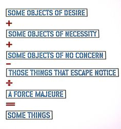 Lawrence Weiner | Some Objects of Desire | 2004