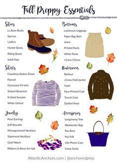 Fall Preppy Essentials Every Girl Needs - Atlantic Anchors Preppy Essentials, Preppy Basics, Estilo Preppy Chic, Preppy Wardrobe, Ll Bean Boots, Preppy Southern, Preppy Fall Outfits Southern Prep, Preppy Ideas, Preppy Inspiration