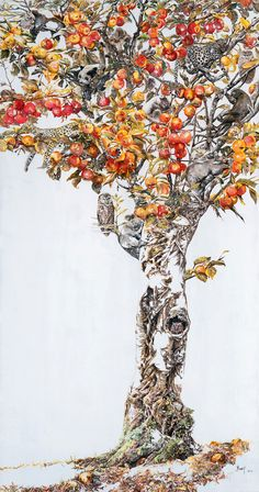 Drunk in Autumn: A Towering New Acrylic Ink Drawing by Zhao Na