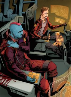 Disney Marvel, Marvel Art, Marvel Characters, Marvel Movies, Gardens Of The Galaxy, Galaxy Comics, Yondu Udonta, Drax The Destroyer, Marvel Couples