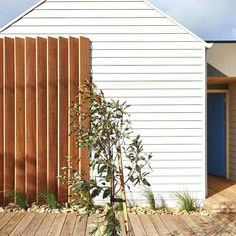 Sometimes the simplest things work the best. This timber screen protects the… More