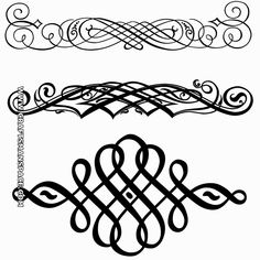 """Decorative flourishes.   FREE """"PERSONAL USE"""" DWG, SVG, EPS FILES."""