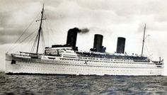1931 Canadian Pacific S.S. Empress of Britain Ocean Liner Ship Real Photo Postcard, Vintage