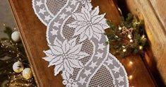 Filet Crochet, Crochet Motif, Crochet Doilies, Crochet Flowers, Crochet Lace, Crochet Patterns, Crochet Placemats, Crochet Table Runner, Cross Stitch Embroidery