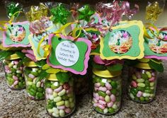Tinkerbell Baby Food Jar Party Favors by Stinkystuffs on Etsy, $6.75