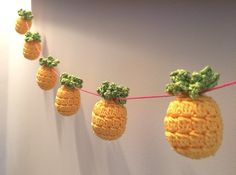Kitsch Pineapple Bunting pattern by Flo and Dot