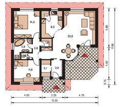 Földszintes gyorsházak alaprajzai Floor Plans, Floor Plan Drawing, House Floor Plans