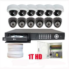 """Professional 16 Channel HDMI H.264 (1T + DVD Burner) DVR Surveillance Video System Package with (12) x 1/3"""" SONY CCD Cameras, 560 TV Lines Outdoor and Indoor Security Camera by Gw. $1600.00. Package includes: GW2556SV-N - 16 channel network DVR with DVD Burner & 1T HD; CD software and manual; 6 x GW2011L - 1/3"""" SONY CCD Outdoor Camera, 560 TV lines, Vari-Focal 4~9mm manual lens; 6 x GW731H -1/3"""" SONY CCD Indoor Camera, 600 TV lines, Metal Vandal Proof; 1 x GW500R..."""
