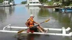 Лодка из канализационных труб | ShareMind.info