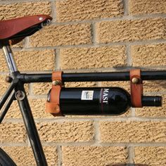 for all those winos who cant resist... Bicycle Wine Rack