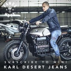 We have a pair of Karl Desert motorcycle jeans to give away thanks to @pandomoto. To win simply sign up to our newsletter before Oct 8th 2018. ... Subscribe via the link in the @returnofthecaferacers profile. Custom Bmw, Custom Cafe Racer, Bmw Cafe Racer, Custom Bikes, Custom Cars, Cafe Racers, Motorcycle Jeans, Retro Motorcycle, Bobber