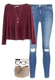 """{anybody go Black Friday shopping?}"" by southerngirl03 ❤ liked on Polyvore featuring Frame Denim, Madewell, TOMS, Kendra Scott, Michael Kors, Ray-Ban and NARS Cosmetics"