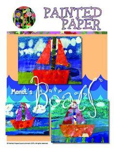 Art Projects for Kids. Monet boats. Kids Art.