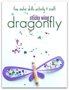 Dragonfly Craft for Preschoolers. Help develop fine motor skills with fun and interactive kids crafts for your kids.