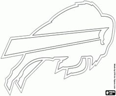 Buffalo Bills emblem coloring page