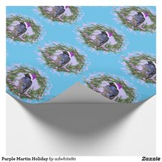 Purple Martin Holiday Wrapping Paper