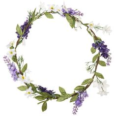 TOPSHOP Heather Flower Garland ($28) ❤ liked on Polyvore featuring accessories, hair accessories, fillers, headbands, hair, purple, topshop, purple hair accessories, flower crown headband and headband hair accessories