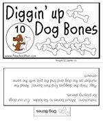 Diggin' up Dog Bones-- counting folder game