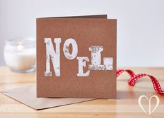 Handmade Noel Christmas Card от CookieDesignCards на Etsy
